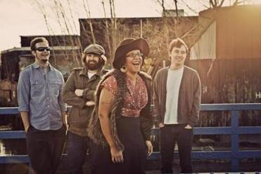 The Alabama Shakes are (from left) drummer Steve Johnson, bassist Zac Cockrell, singer/guitarist Brittany Howard, and guitarist Heath Fogg.